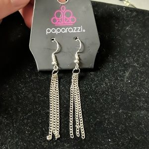 Paparazzi silver dangle earrings